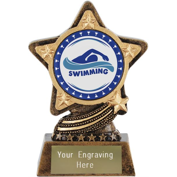 """Swimming Trophy by Infinity Stars 10cm (4"""")"""