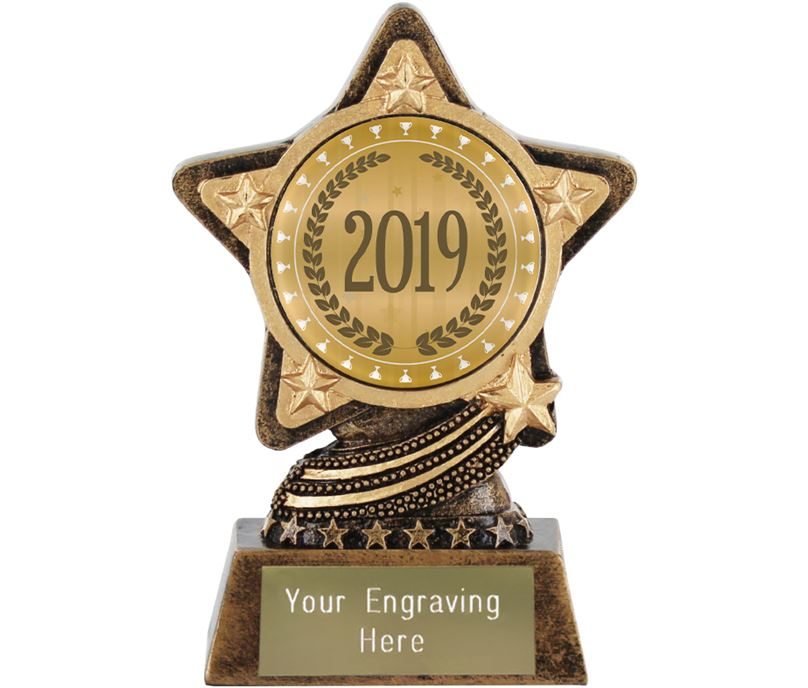 "2019 Trophy by Infinity Stars 10cm (4"")"