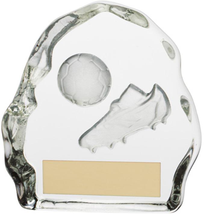 "Football Glass Sub Zero Award 7.5cm (3"")"
