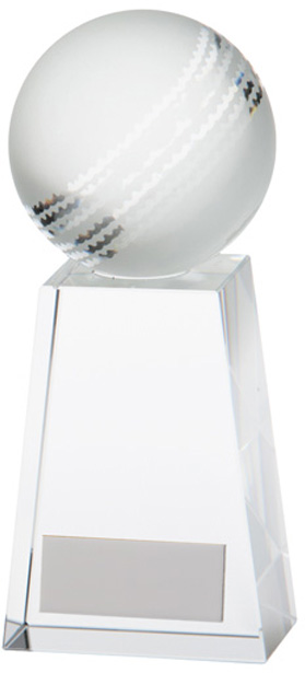 "Cricket Ball Voyager Glass Award 14.5cm (5.75"")"