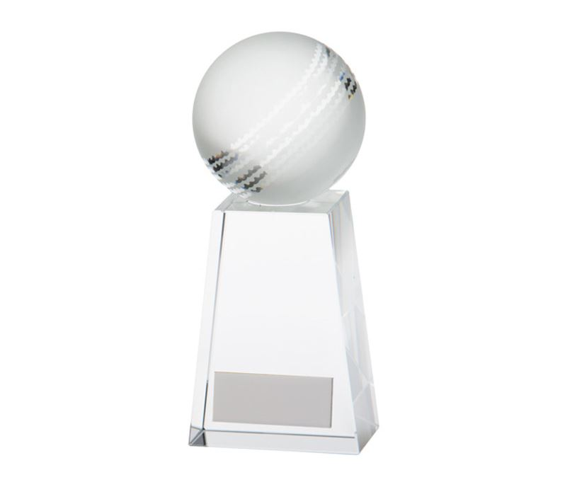 "Cricket Ball Voyager Glass Award 9.5cm (3.75"")"