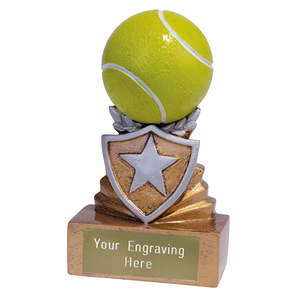 Mini Tennis Shield Trophy 9.5cm (3.75)