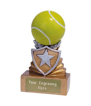Mini Tennis Shield Trophy 9.5cm (3.75)