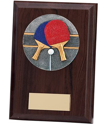 "Table Tennis Plaque Award 12.5cm (5"")"