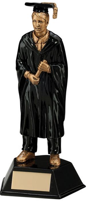 Male Graduation Student Figure Trophy 17cm (6.75)