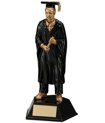 Male Graduation Student Figure Trophy 17cm (6.75)