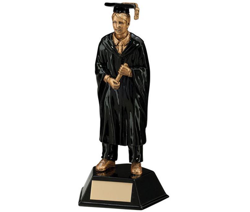 """Male Graduation Student Figure Trophy 17cm (6.75"""")"""