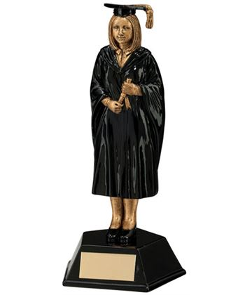 Female Graduation Student Figure Trophy 17cm (6.75)