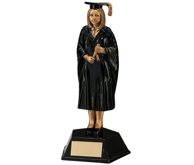 Female Graduation Student Figure Trophy 17cm (6.75)