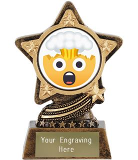 "Exploding Head Emoji Trophy by Infinity Stars 10cm (4"")"