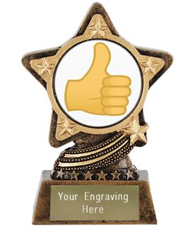 "Thumbs Up Emoji Trophy by Infinity Stars 10cm (4"")"