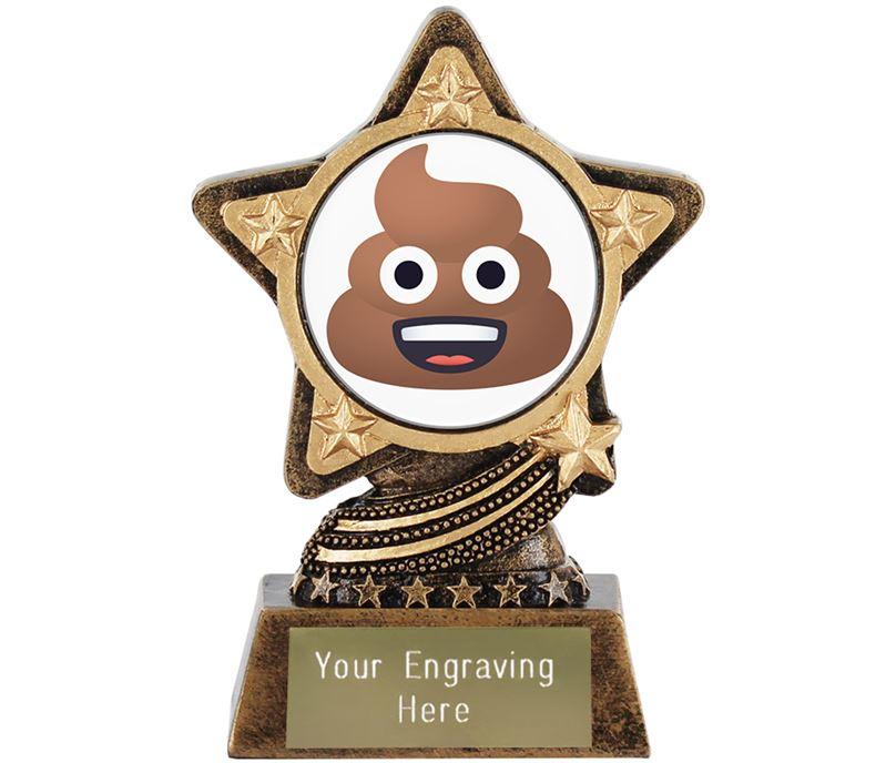"""Pile Of Poo Emoji Trophy by Infinity Stars 10cm (4"""")"""