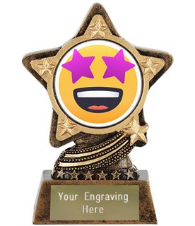 "Star Struck Emoji Trophy by Infinity Stars 10cm (4"")"