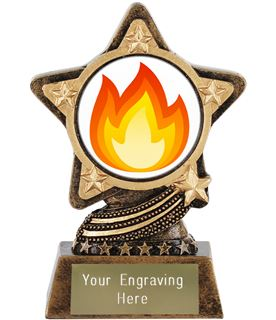 "Fire Emoji Trophy by Infinity Stars 10cm (4"")"