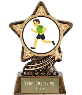 "Man Running Emoji Trophy by Infinity Stars 10cm (4"")"