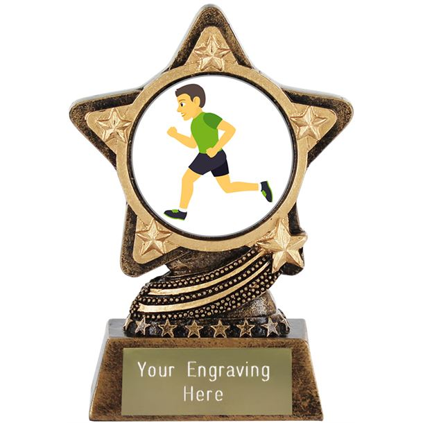 "Man Running Emoji Trophy by Infinity Stars 10cm (4"")"