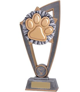 "Dog Paw Star Blast Trophy 23cm (9"")"