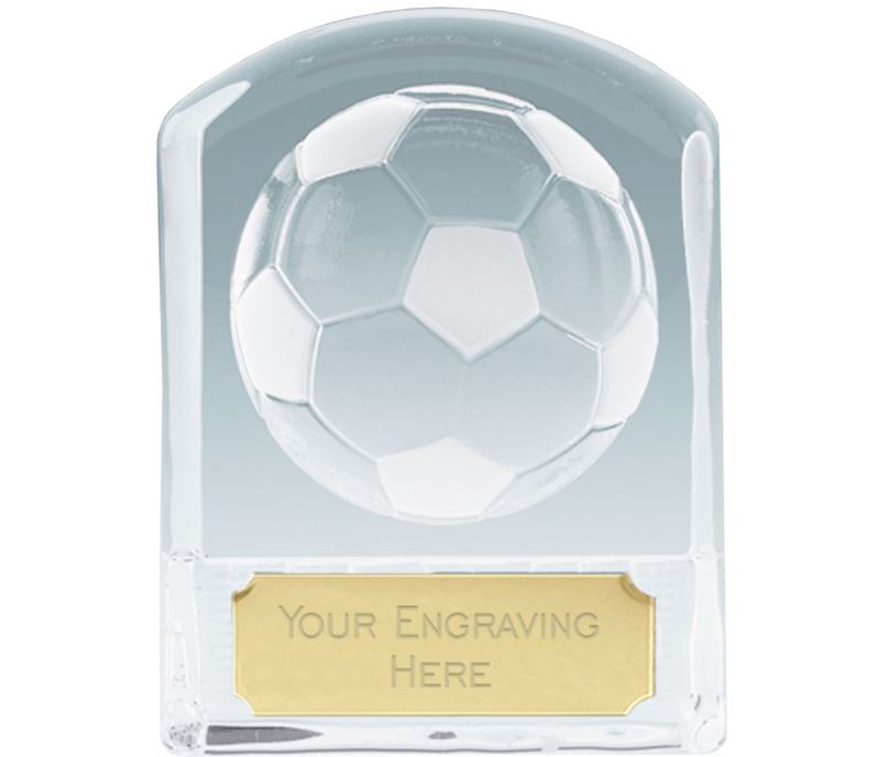 """Football Arched Top Glass Award 11cm (4.25"""")"""