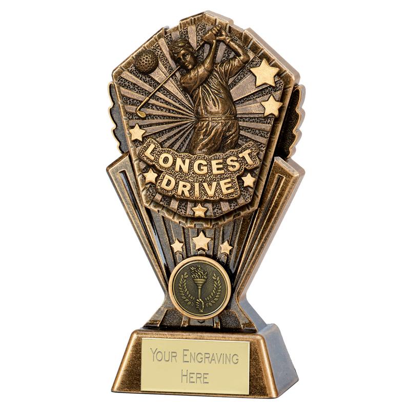 "Golf Longest Drive Cosmos Trophy 17.5cm (7"")"