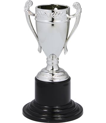 "Mini Trophy Cup Medal Silver 10cm (4"")"