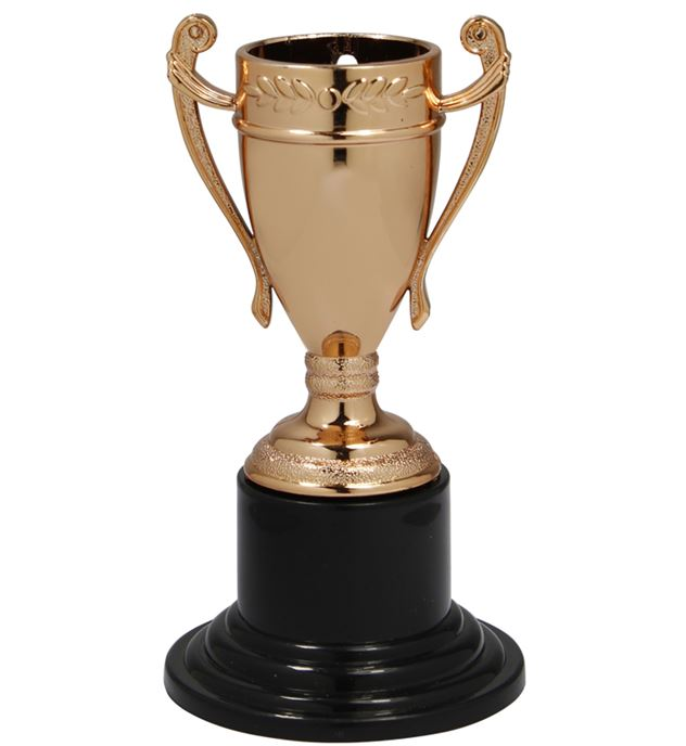 "Mini Trophy Cup Medal Bronze 10cm (4"")"