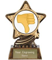 "Thumbs Down Emoji Trophy by Infinity Stars 10cm (4"")"
