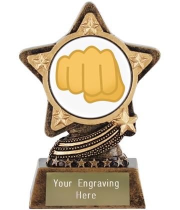 "Oncoming Fist Emoji Trophy by Infinity Stars 10cm (4"")"
