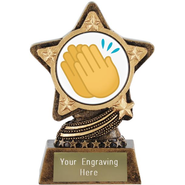 """Clapping Hands Emoji Trophy by Infinity Stars 10cm (4"""")"""