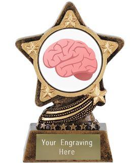 """Brain Emoji Trophy by Infinity Stars 10cm (4"""")"""