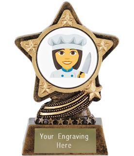 "Woman Cook Emoji Trophy by Infinity Stars 10cm (4"")"