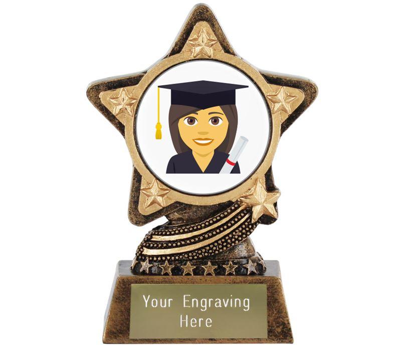 "Woman Student Emoji Trophy by Infinity Stars 10cm (4"")"
