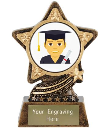"Man Student Emoji Trophy by Infinity Stars 10cm (4"")"