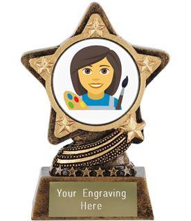 "Woman Artist Emoji Trophy by Infinity Stars 10cm (4"")"