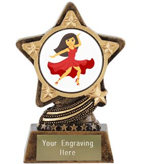 "Woman Dancing Emoji Trophy by Infinity Stars 10cm (4"")"