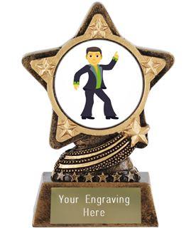 "Man Dancing Emoji Trophy by Infinity Stars 10cm (4"")"