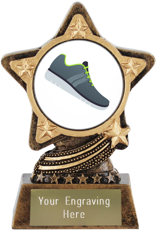 "Running Shoe Emoji Trophy by Infinity Stars 10cm (4"")"