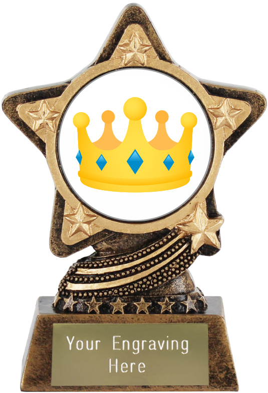 "Crown Emoji Trophy by Infinity Stars 10cm (4"")"