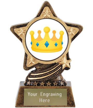"Crown Emoji Trophy by Infinity Stars 10cm (4"")"