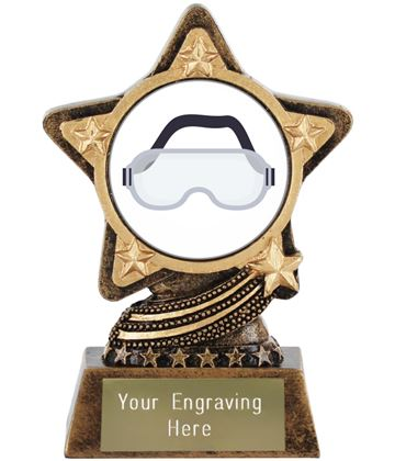 "Goggles Emoji Trophy by Infinity Stars 10cm (4"")"