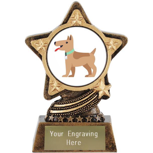 """Dog Emoji Trophy by Infinity Stars 10cm (4"""")"""