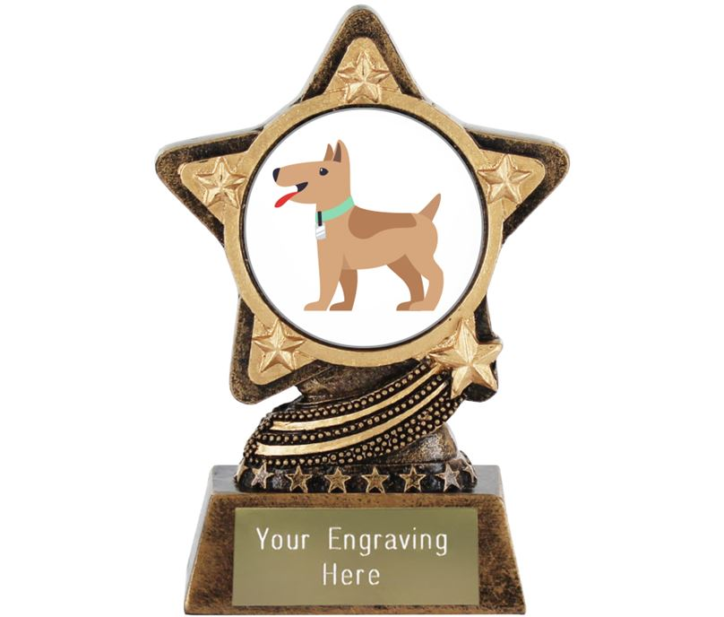 "Dog Emoji Trophy by Infinity Stars 10cm (4"")"