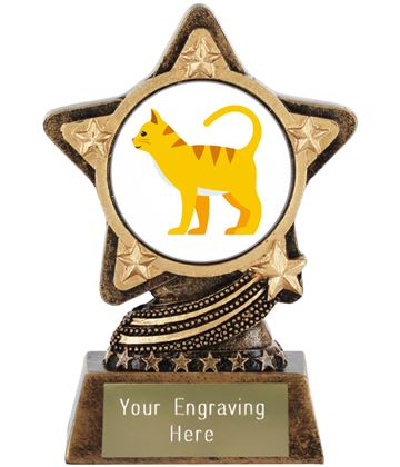 "Cat Emoji Trophy by Infinity Stars 10cm (4"")"