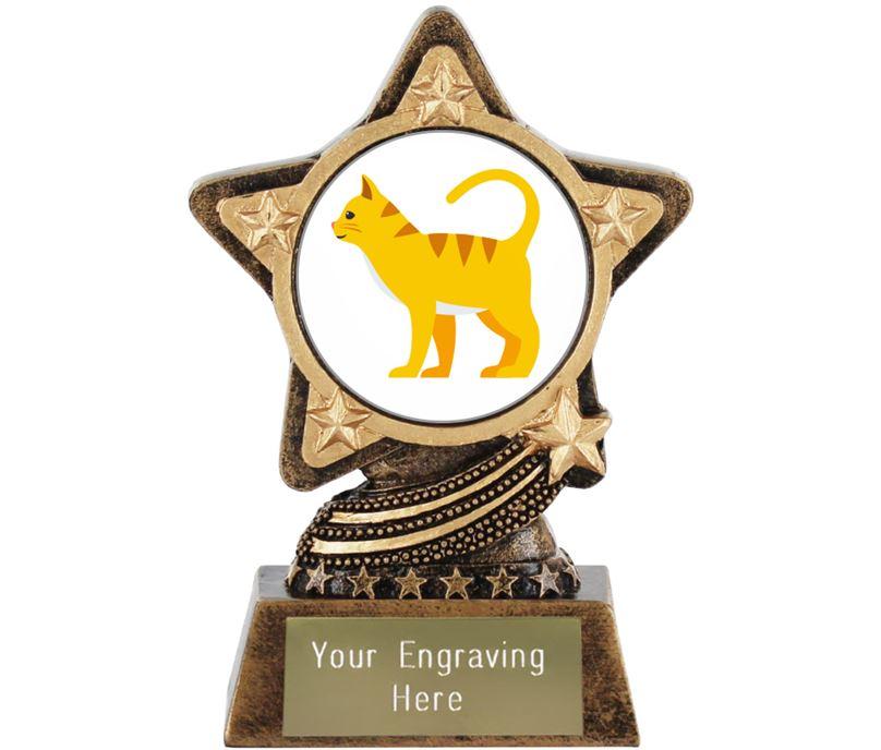 """Cat Emoji Trophy by Infinity Stars 10cm (4"""")"""