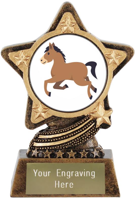 "Horse Emoji Trophy by Infinity Stars 10cm (4"")"