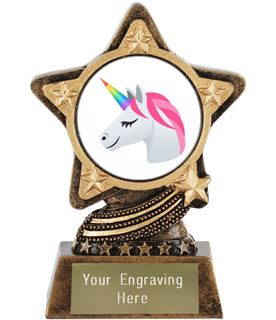 "Unicorn Emoji Trophy by Infinity Stars 10cm (4"")"