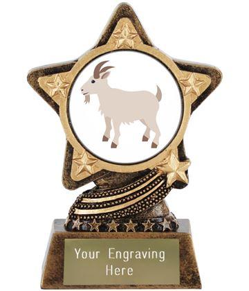 """Goat Emoji Trophy by Infinity Stars 10cm (4"""")"""