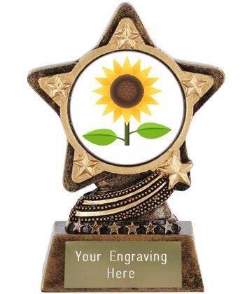 """Sunflower Emoji Trophy by Infinity Stars 10cm (4"""")"""
