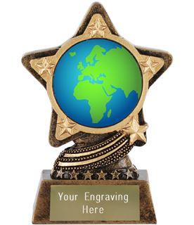 "Globe Showing Europe Emoji Trophy by Infinity Stars 10cm (4"")"