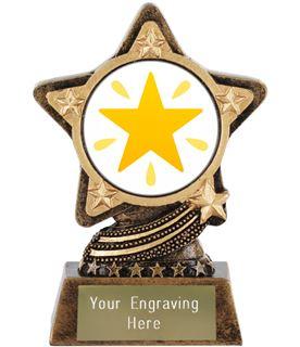 "Glowing Star Emoji Trophy by Infinity Stars 10cm (4"")"