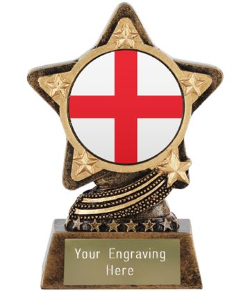 "England Flag Trophy by Infinity Stars 10cm (4"")"